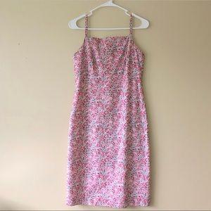 346 Brooks Brothers Pink Floral Sleeveless Dress 2